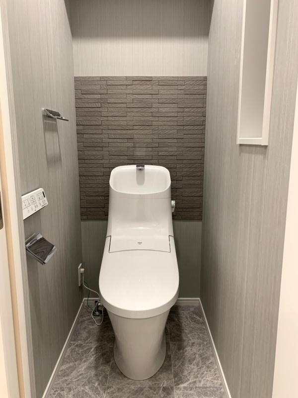 エコカラットプラス『グラナスルドラ』を施工したトイレ